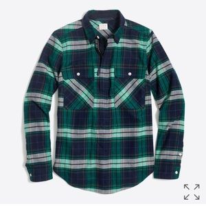 J Crew plaid shirt-jacket